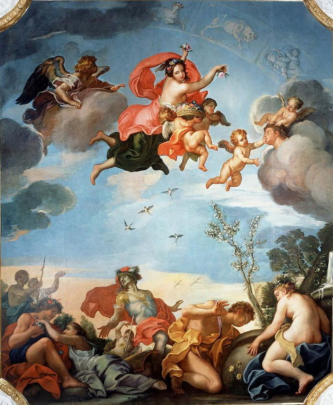 Image - Yurii Shymonovych-Semyhynovsky: Allegory of Spring in the Wilanów royal castle.