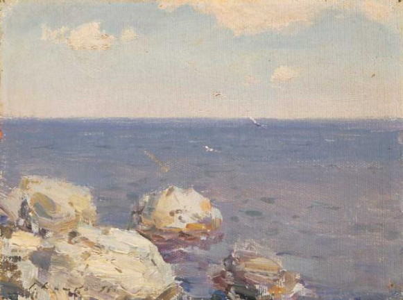 Image - Serhii Shyshko: Rocks in Water (1956).