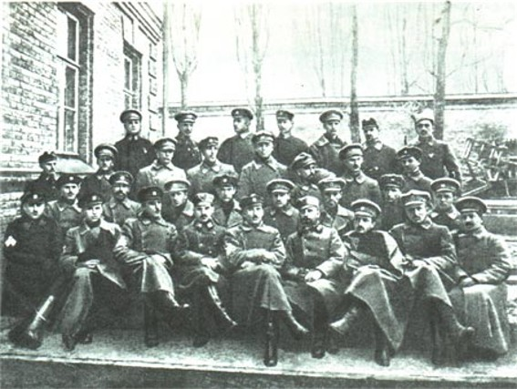 Image - The Sich Riflemen and Ukrainian Sich Riflemen officers in Kyiv in 1918.