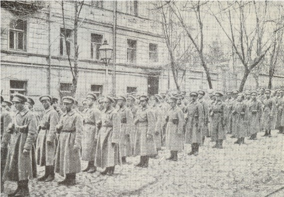 Image -- The first detachment of Sich Riflemen after the capture of Kyiv in January 1918.