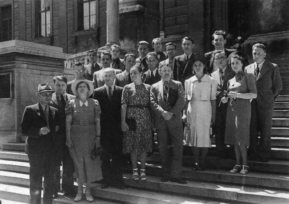 Image - Members of the Sich student society of Vienna (1939).