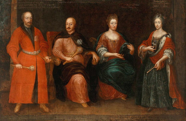 Image - Portrait of the Sieniawski family.