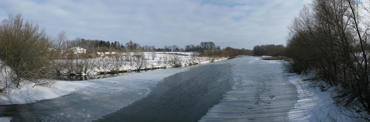 Image - The Sluch River in winter (near Starokostiantyniv).