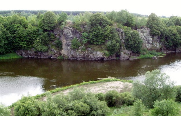 Image - The Sluch River near Sosnove, Rivne oblast.