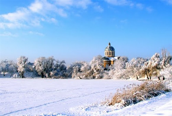 Image - The Dormition Cathedral (1859) in Smila (winter panorama).