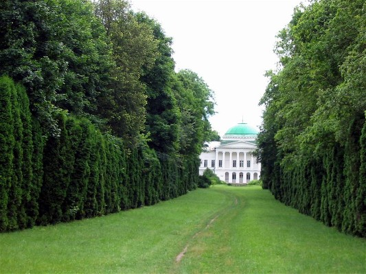 Image -- The Galagan palace in the park in Sokyryntsi.