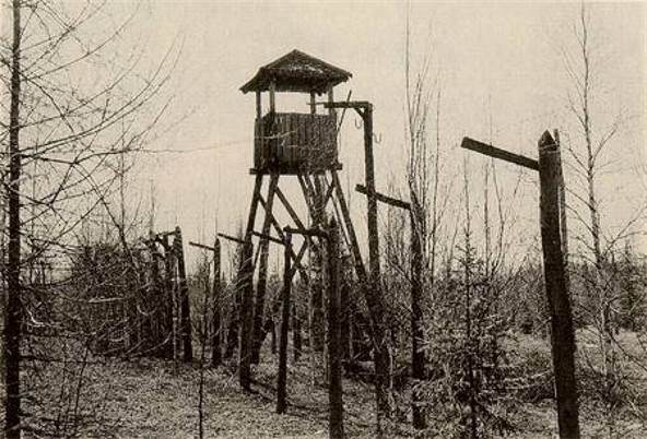 Image - A watch tower in the Solovets Islands concentration camp.