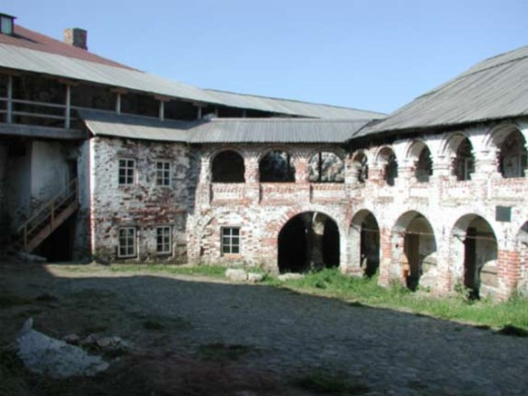 Image - The courtyard of the Solovets Islands monastery.