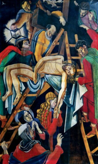 Image - Osyp Sorokhtei: Descent from the Cross.