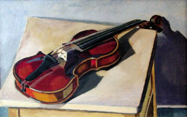 Image - Osyp Sorokhtei: Still Life with a Violin (1938).