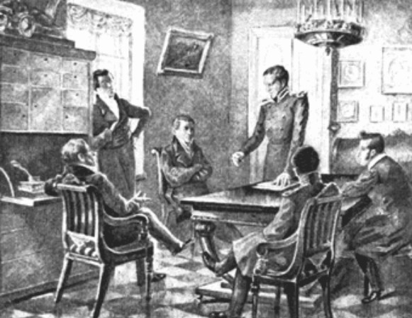 Image - A meeting of the Southern Society (drawing).