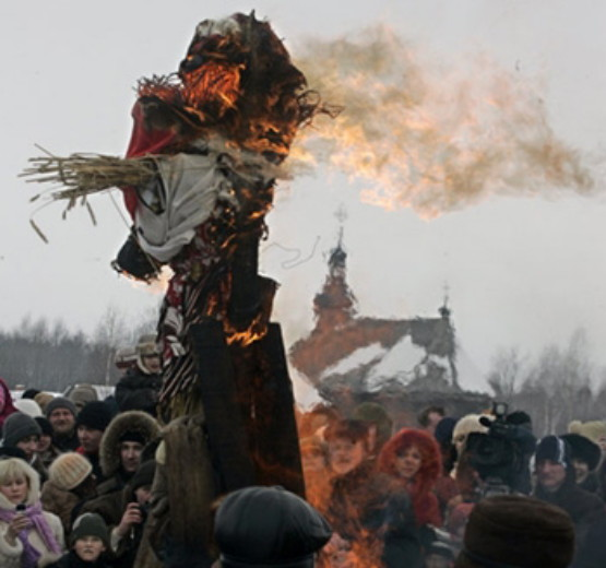 Image - Spring rituals: the burning of a Morena effigy.