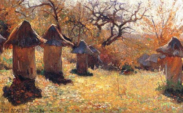 Image - Jan Stanislawski: Beehives in Ukraine (1895).