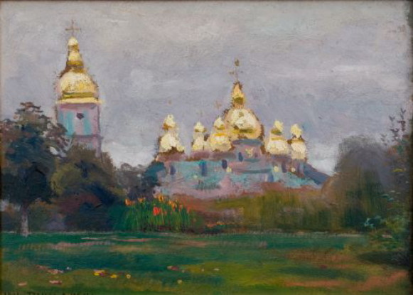 Image - Jan Stanislawski: Saint Michael's Cathedral in Kyiv (1898).
