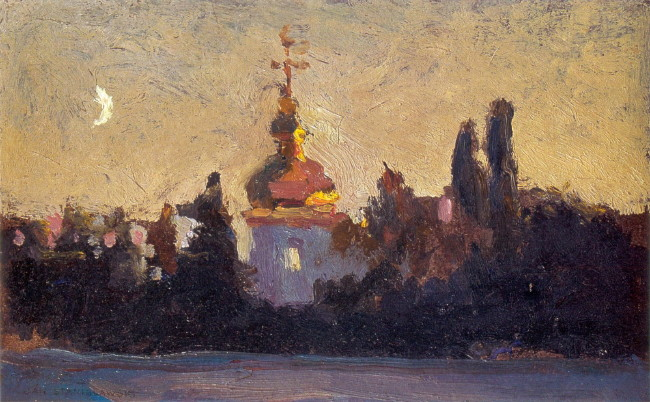 Image - Jan Stanislawski: Saint Michael's Cathedral in Kyiv (1903).