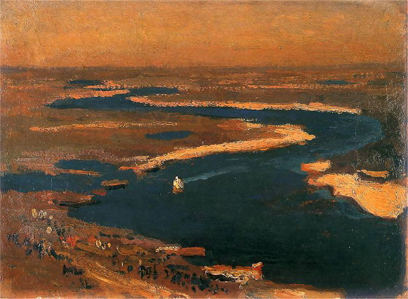 Image - Jan Stanislawski: The Dnieper below Kyiv (1905).