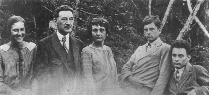 Image - The Starosolsky family: (left to right) Uliana, Volodymyr, Dariia, Yurii, and Ihor Starosolsky.