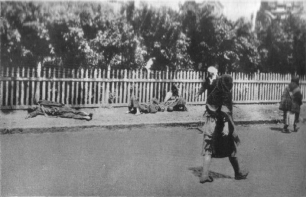 Image - Dying peasants on the streets of Kharkiv during the Famine-Genocide (1933).