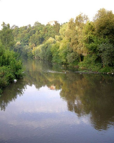 Image - The Strypa River near Buchach, Ternopil oblast.