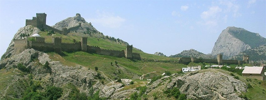 Image - A panorama of the Sudak fortress in the Crimea.