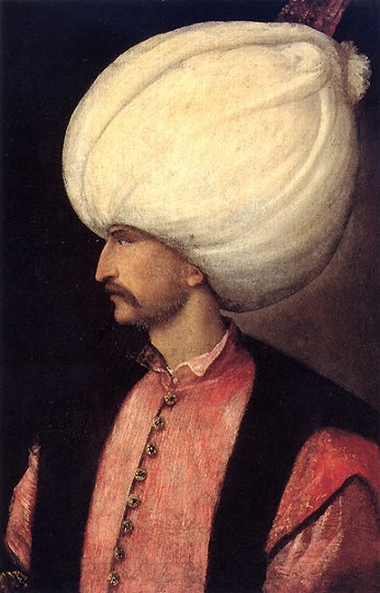 Image - A portrait of Sultan Suleyman the Magnificent (Titian school, 1530).