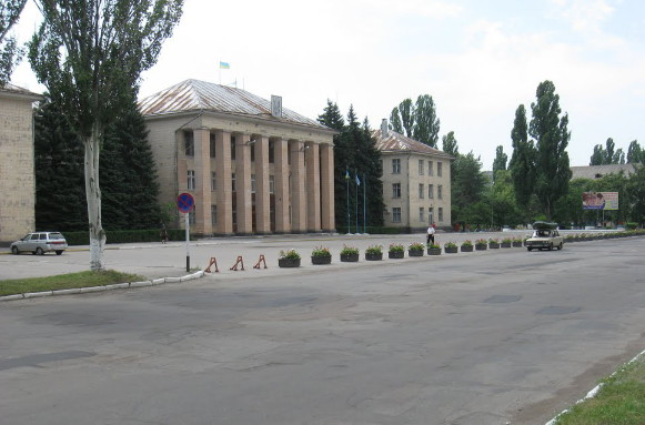 Image - Svitlovodsk: city center.