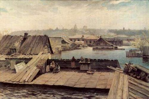 Image - Serhii Svitoslavsky: The Flood in Obolon.
