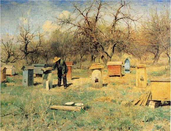 Image - Serhii Svitoslavsky: A Spring Day among the Hives.