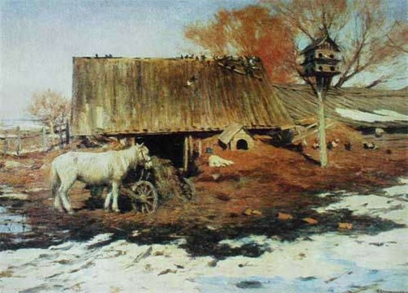 Image - Serhii Svitoslavsky: A Yard in Early Spring.