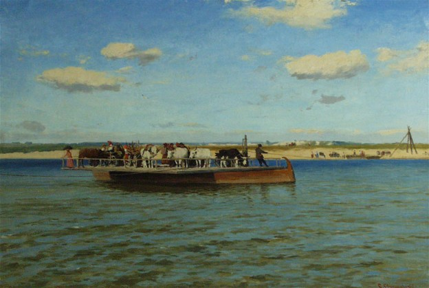 Image - Serhii Svitoslavsky: Ferry on the Dnieper (1913).