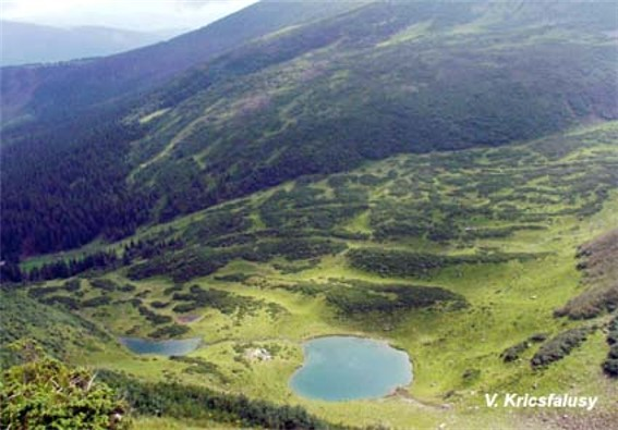 Image - The Vorozhieska Lake in the Svydivets mountain group.