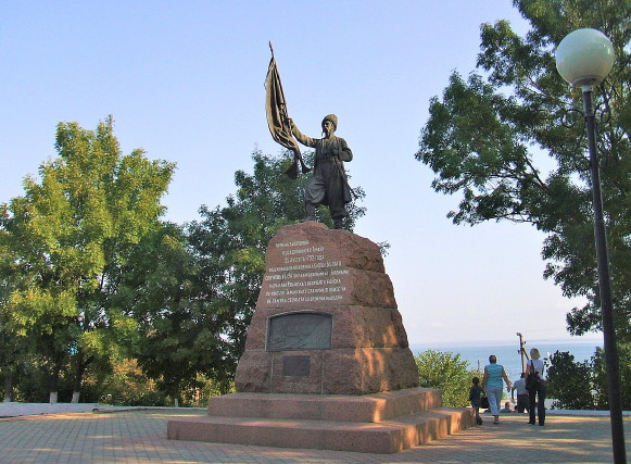 Image - Taman: Monument to the first Cossack settlers