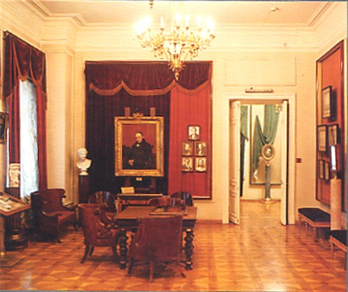 Image - One of the exhibit halls in the Taras Shevchenko National Museum.