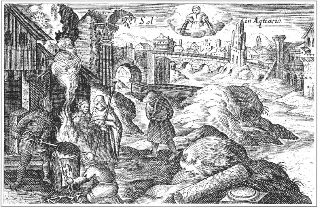 Image - Oleksander Tarasevych: an engraving from Rosarium (1678).
