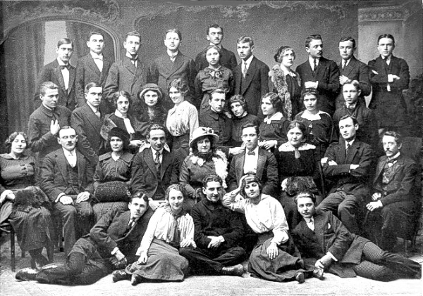 Image - Actors and directors of the Ternopilski Tetaralni Vechory theater (1916).