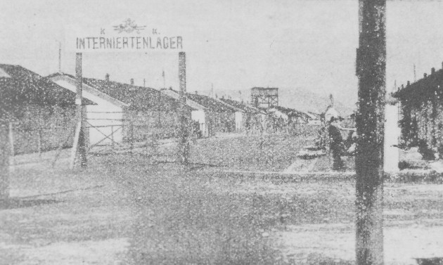 Image - A gate of the Thalerhof internment camp.