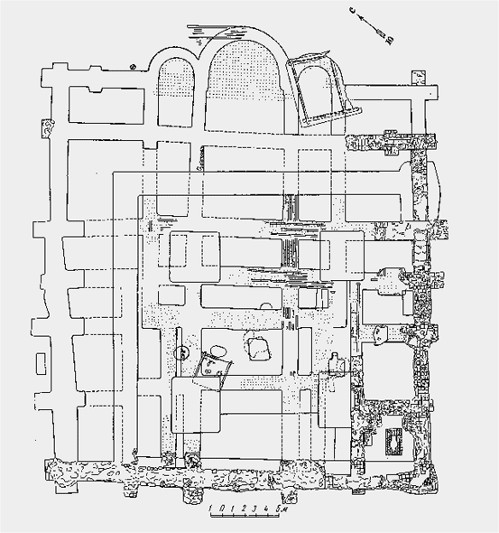 Image - A floor plan of the Church of the Tithes.