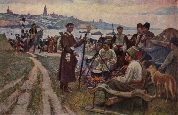 Image - Karpo Trokhymenko: Cossacks Supper at Their Battle Posts.