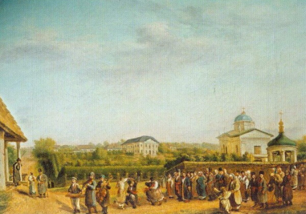 Image - Vasilii Tropinin: Wedding in Kukavka.