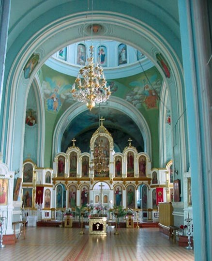 Image - Trostianets (Sumy oblast): Church of the Assumption (interior).