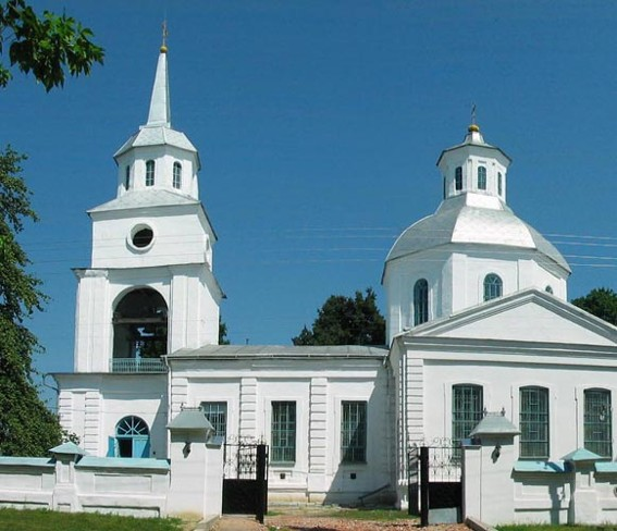 Image - Trostianets (Sumy oblast): Church of the Annunciation (1750).