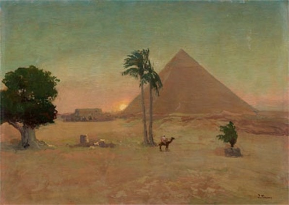 Image - Ivan Trush: An Egyptian Landscape.