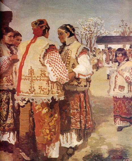 Image - Ivan Trush: Hutsul Women near a Church.