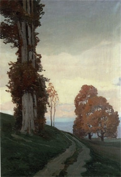 Image - Ivan Trush: A  Landscape with a Tree.