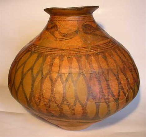 Image - Tripilian culture: clay pot with animalistic and geometric ornaments.