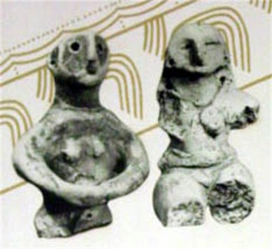Image - Trypilian culture: fragments of figurines.