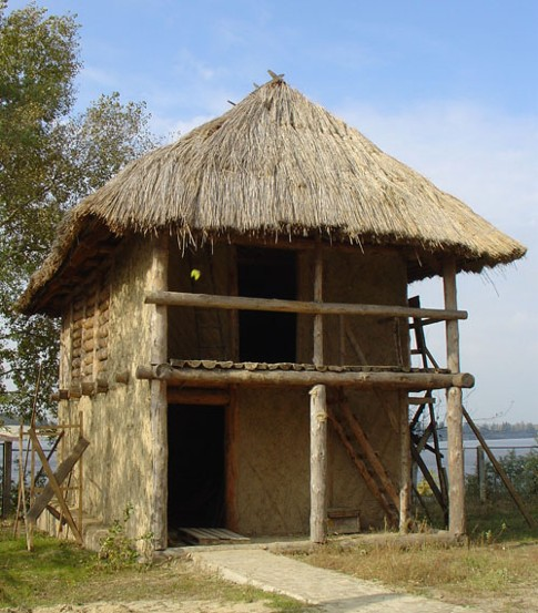 Image - A reconstructed dwelling of the Trypilian culture period.