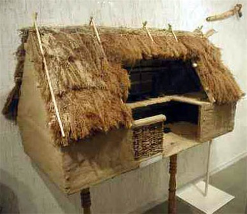 Image - A reconstructed model of a Trypilian culture woden hut.