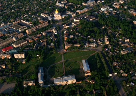 Image - Tulchyn city center (aerial view).