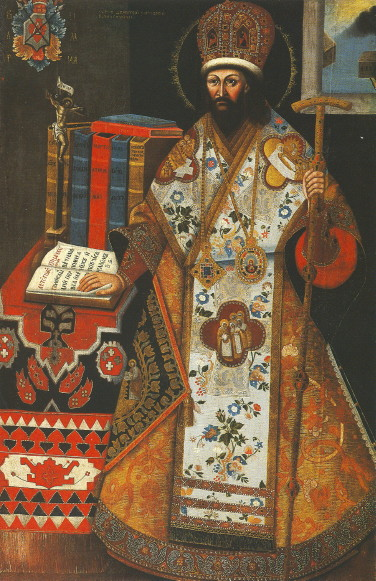 Image - Portrait of Dymytrii Tuptalo as Metropolitan of Rostov.